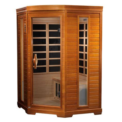 Uv Sauna Detox by Comet 2 Person Corner Sauna 2 Backrests Ionizer