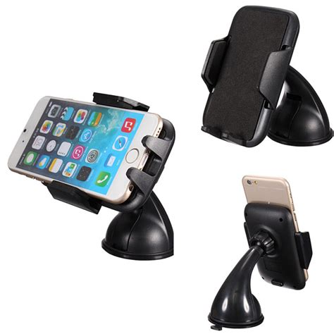 Suction Cup Car Holder Mobil Kamera Aksi 360 176 rotating car windshield suction cup mount holder for mobile phone alex nld