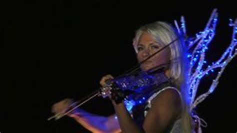 Dress Glow Violin violinist was dressed as a stock footage 57239202