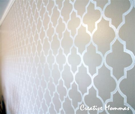 paint patterns for walls creative mommas stenciled wall