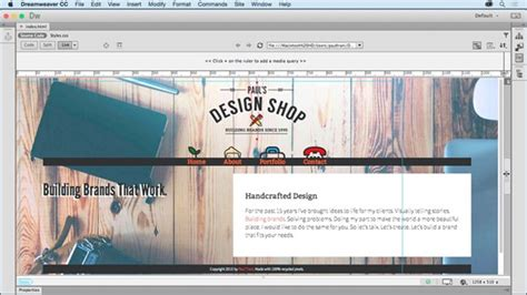 tutorial website using dreamweaver dreamweaver tutorials training lynda com