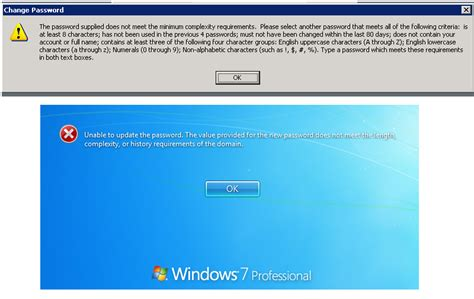 windows vista enterprise password reset how to set a specific password policy to one user in ad