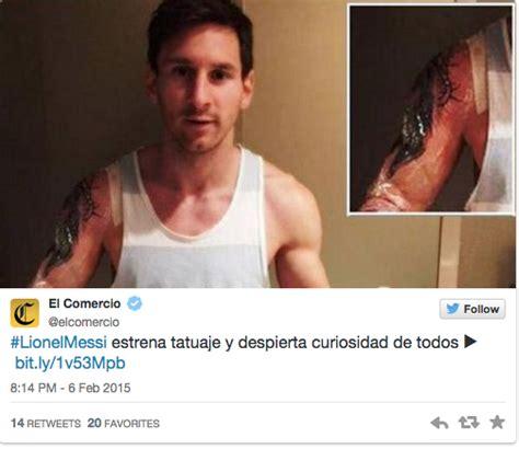 tattoo de messi 2015 nieuwe tattoo voor lionel messi wtf nieuws