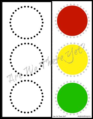Free Traffic Light Cut Paste Printable Amy S Wandering Printable Traffic Light