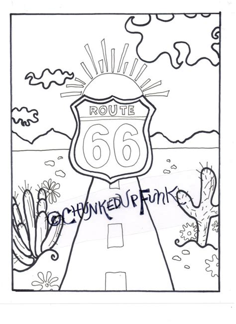 Route 66 Coloring Pages Printable Coloring Page Route 66 Arizona Texas Santa by Route 66 Coloring Pages