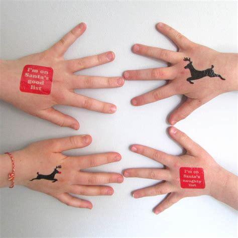 temporary xmas tattoos temporary tattoos by edamay notonthehighstreet
