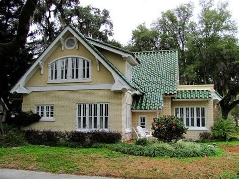 image exterior house colors with green roof
