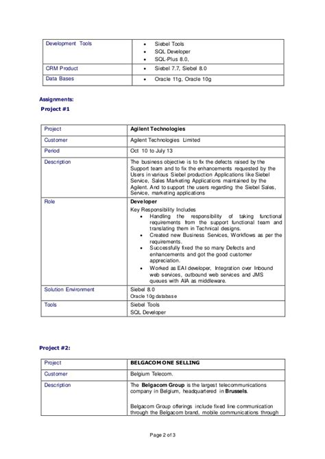 Siebel Business Analyst Cover Letter by Siebel Crm Developer Resume 28 Images Siebel Org Siebel Business Analyst 28 Images Siebel