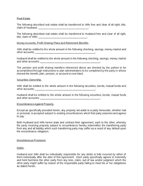 property settlement agreement template property settlement agreement hashdoc