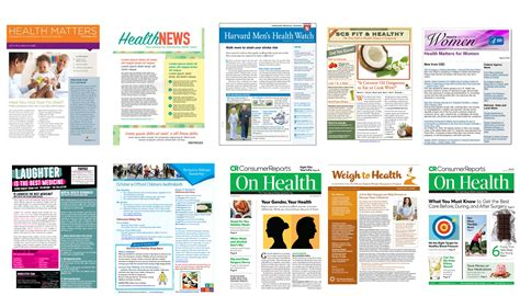 health and wellness newsletter template health and wellness newsletter template choice image