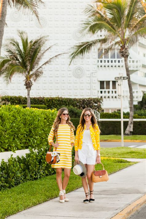fashion sunny yellow  lemon print styles palm beach