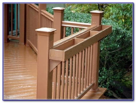 Railing Brackets For Planters by Deck Railing Planter Brackets Decks Home Decorating Ideas Lmjb68djzp