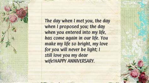 Wedding Anniversary Wishes Letter by Anniversary Words For
