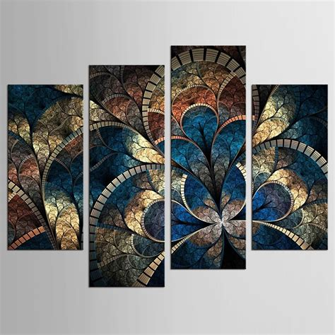 panel modern abstract flower painting  canvas wall art