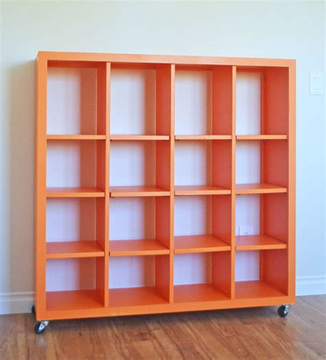 how to build a cube bookcase ana white 4x4 rolling cube shelf adjustable shelves
