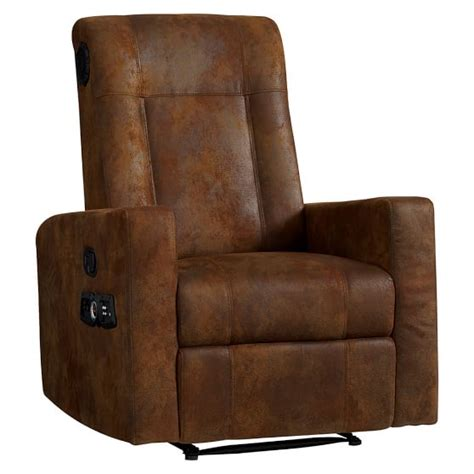 recliner with speakers trailblazer kick back recliner speaker media chair pbteen