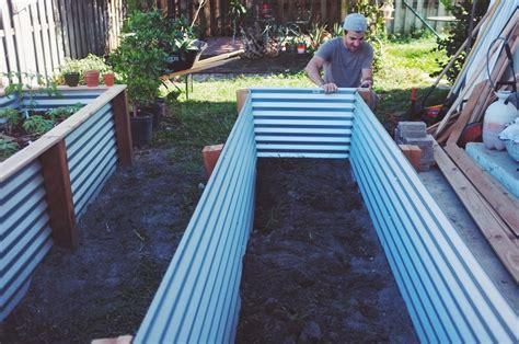 corrugated metal raised garden beds design raised bed vegetable gardens terrasse en bois