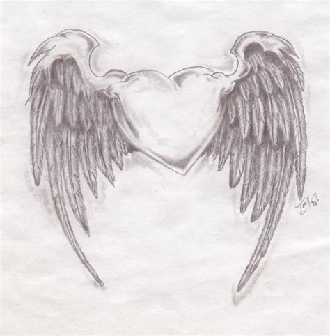 heart wings tattoo lock with wings another winged