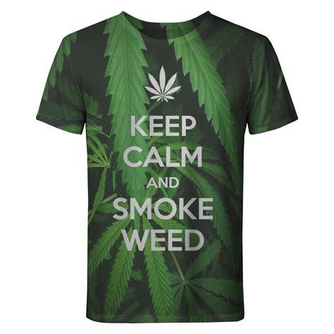Tshirts Cannabis Bc koszulka keep calm and smoke koszulki unisex kobieta