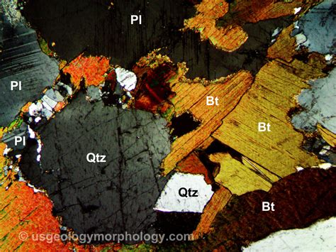 granite in thin section usgg biotite