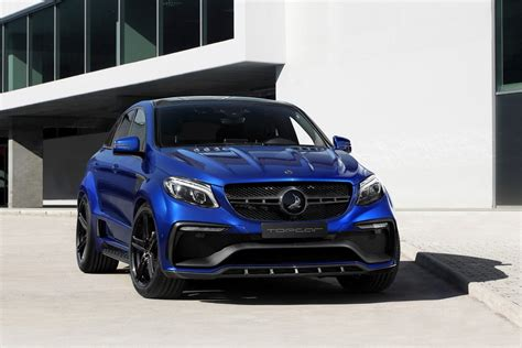 topcar dips inferno wearing mercedes gle coupe  blue