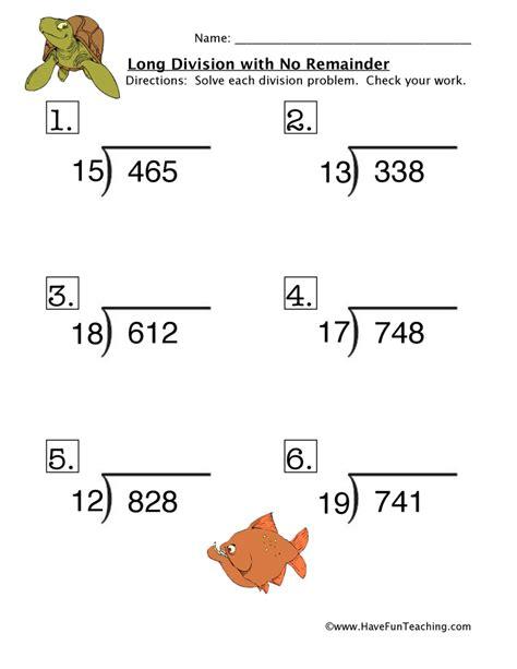 free printable long division worksheets without remainders long division no remainder worksheet 4