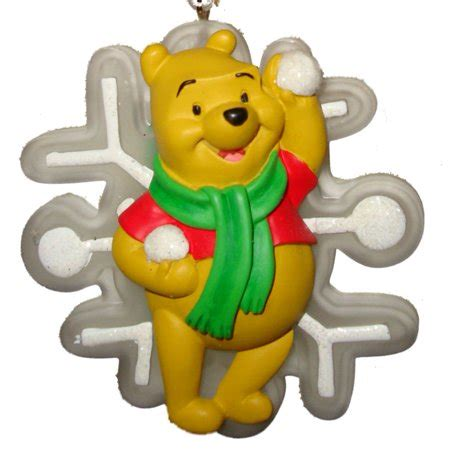 winnie the pooh holiday light disney winnie the pooh ornament light up pooh with snowflake walmart