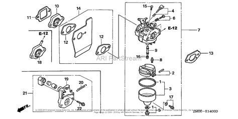 honda gvc160 carburetor diagram honda engines gcv160a s3a engine usa vin gjaea 1000001