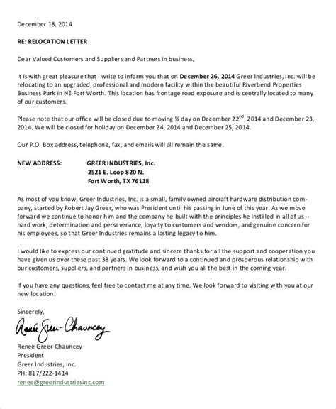 business closing letter to vendors 52 sle business letters free premium templates