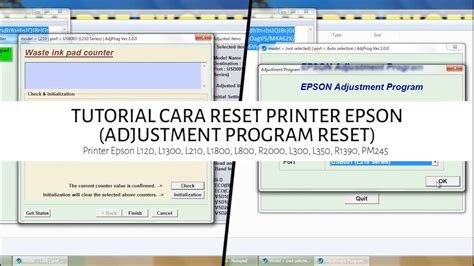 reset epson l210 youtube tutorial reset printer epson l120 l1300 l310 l1800