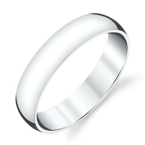 mm plain dome sterling silver mens wedding band comfort