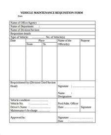 vehicle maintenance form template request forms in word