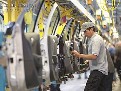 Production Worker by A194 00787 Car Plant Worker On Production Line Construction Photography