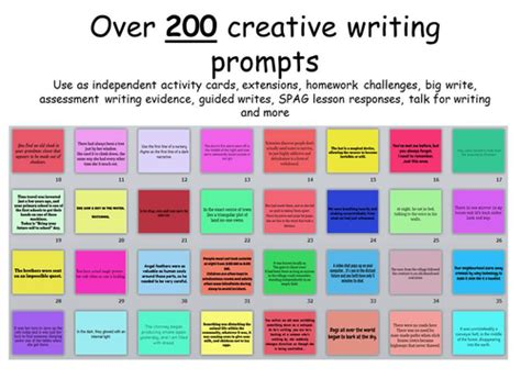 ideas for ks2 creative writing over 200 creative writing prompts ks2 ks3 ks4 by erylands