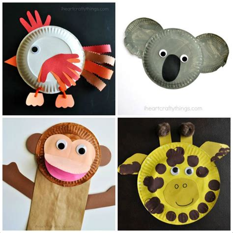 Paper Animal Crafts - animal crafts for