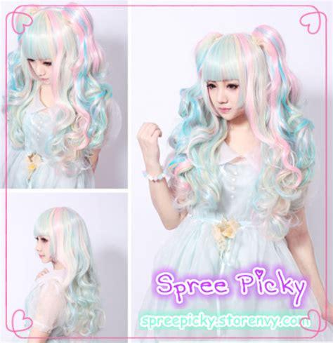 Jaket Model White Pink New Fashion Style Impor harajuku 65cm wig with pony