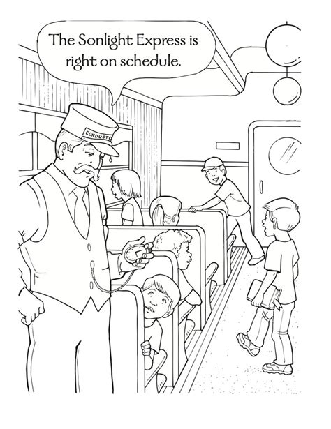 christmas polar express coloring sheet coloring pages