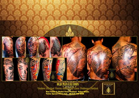 tattoo prices in thailand the best tattoos phuket town 18 years experience old man