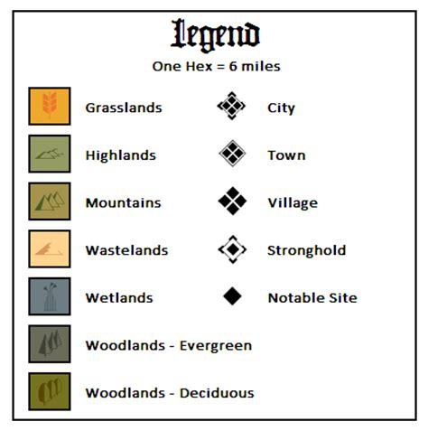 Map Key Template the land of nod nod