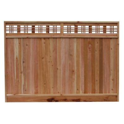 home depot wood fence signature development 6 ft h x 8 ft w western cedar