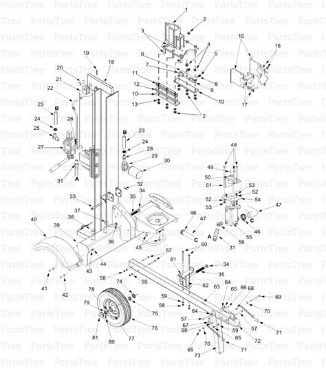 huskee log splitter parts diagram mtd 24ba560c131 huskee log splitter 2000 tractor