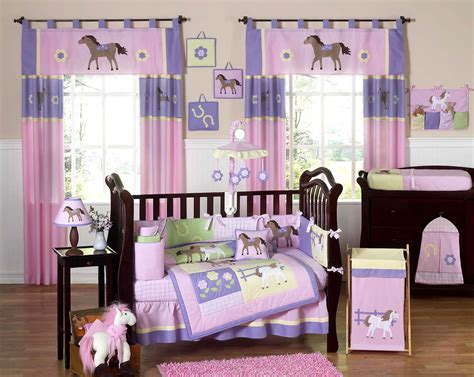 girl crib bedding set pony crib bedding set 9pc baby girl nursery collection