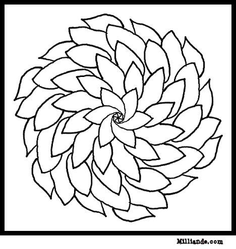 flower mandala coloring pages printable flower coloring pages collections 2010