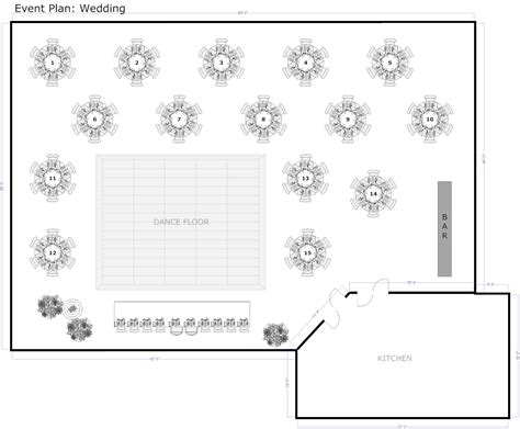 banquet style layout wedding reception table layout template nice decoration