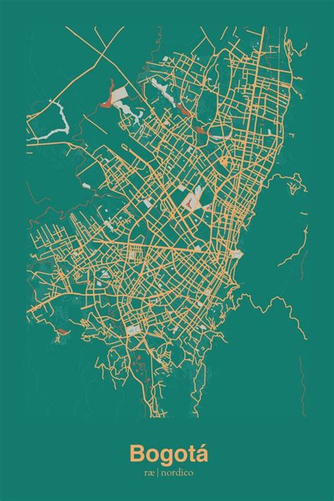 south america map bogota bogota colombia map print maps products