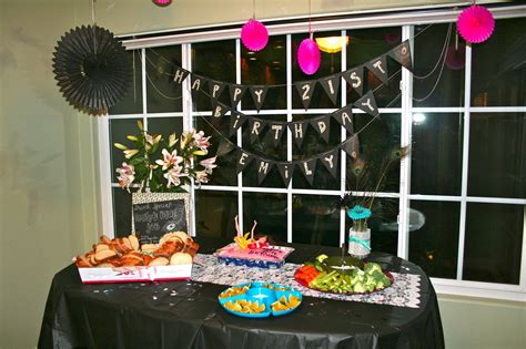 21st Birthday Decoration Ideas by Chagne Taste Shoestring Budget 21st Birthday