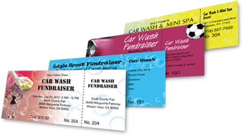 car wash tickets templates free car wash tickets best ticket printing