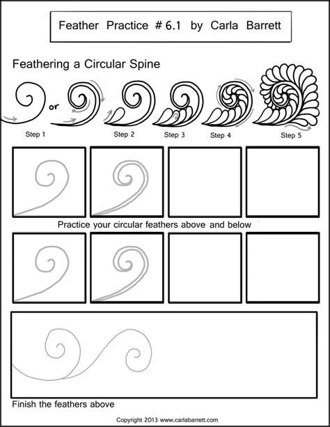 zentangle pattern handouts feather practice zentangle pinterest