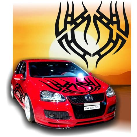 Decals Auto Tuning by Adesivi Auto Tuning Adesivi Tribali Tribal 5 Cofano Car