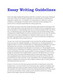 I At Writing Essays by Essay Writing Guidelines